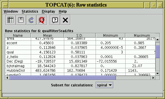 TOPCAT - Tool for OPerations on Catalogues And Tables